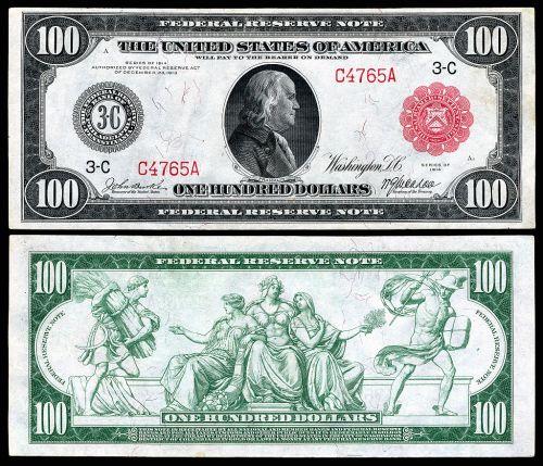 US-$100-FRN-1914-Fr-1074a