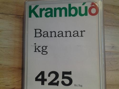 2016 04 17 D 30 Bananas 425 Icelandic Króna per Kilogram
