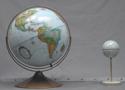 Earth and Moon Globes